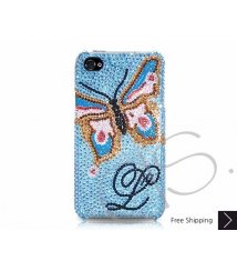 Butterfly Personalized Swarovski Crystal Phone Case