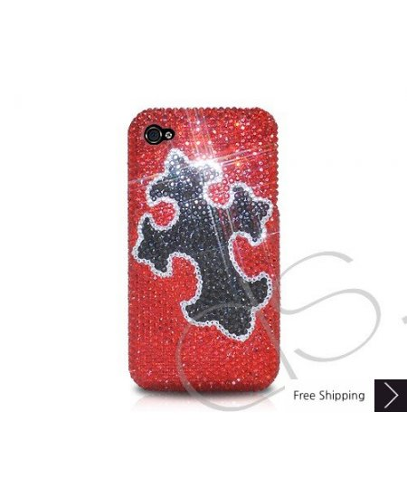 Black Cross Crystallized Swarovski Phone Case