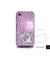 Multi Stars Crystallized Swarovski Phone Case - Pink