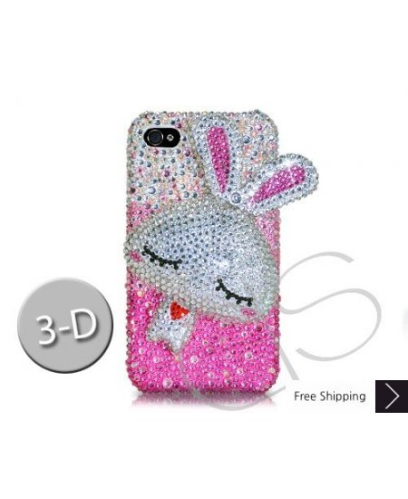 Gradation Rabbit 3D Crystallized Swarovski Phone Case - Pink