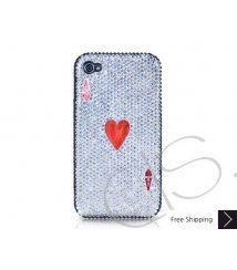 Poker Heart Ace Crystallized Swarovski iPhone 4 Case