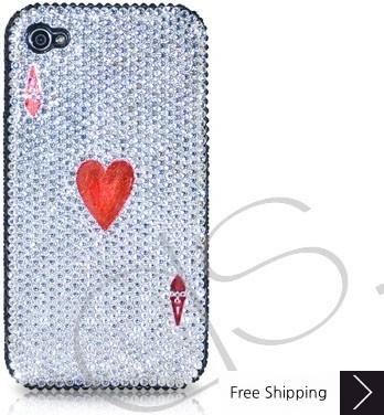 火かき棒の心エース シャネルクリスタルスワロフ スキー iPhone 4 ケース
