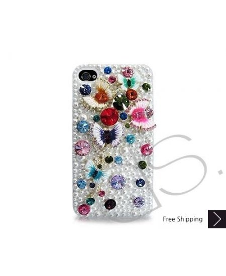 Butterfly 3D Bling Swarovski Crystal Phone Cases