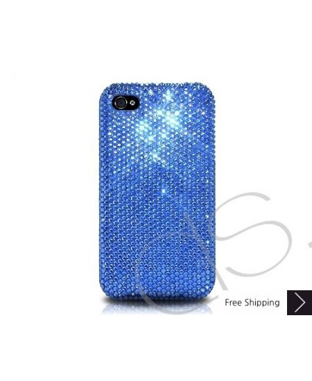Classic Bling Swarovski Crystal Phone Case - Blue