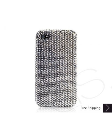 Classic Bling Swarovski Crystal Phone Case - Black Diamond