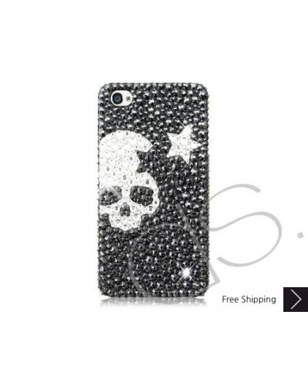 Skull Star Bling Swarovski Crystal Phone Cases