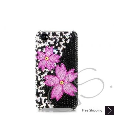 Twin Floral Bling Swarovski Crystal Phone Cases
