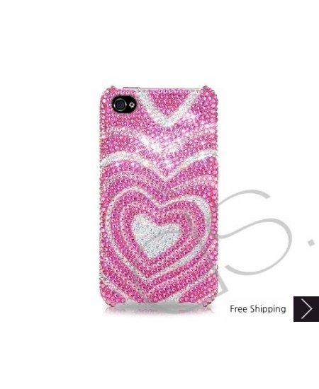 Sweet Heart Bling Swarovski Crystal Phone Cases