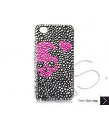 Skull Heart Bling Swarovski Crystal iPhone 8 and iPhone 8 Plus Case