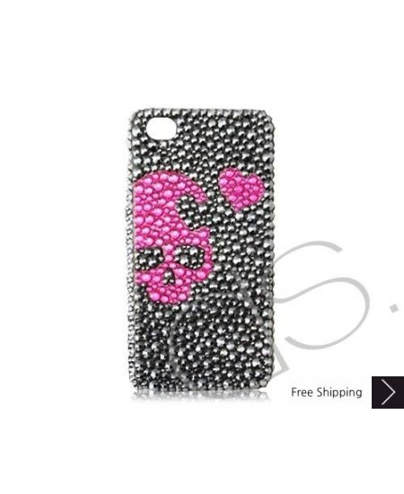 Skull Heart Bling Swarovski Crystal Phone Cases