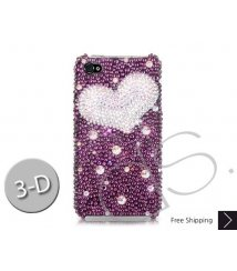 Fancy Love Bling Swarovski Crystal iPhone 12 Case iPhone 12 Pro and iPhone 12 Pro MAX Case - Purple