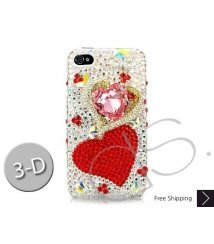 Fancy Love Bling Swarovski Crystal iPhone 12 Case iPhone 12 Pro and iPhone 12 Pro MAX Case - Red