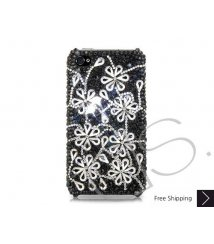 Dark Snowflake Bling Swarovski Crystal iPhone XS and MAX iPhone XR Case