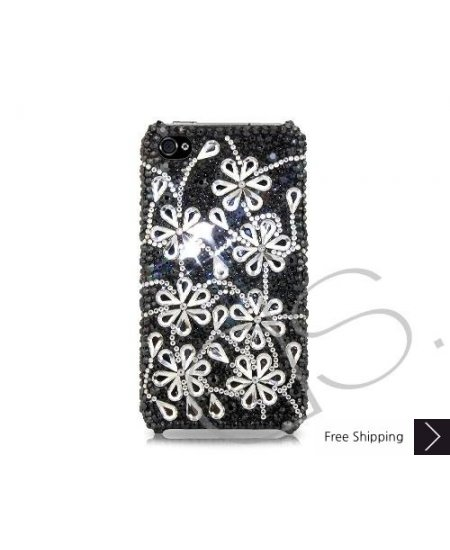 Dark Snowflake Bling Swarovski Crystal Phone Cases