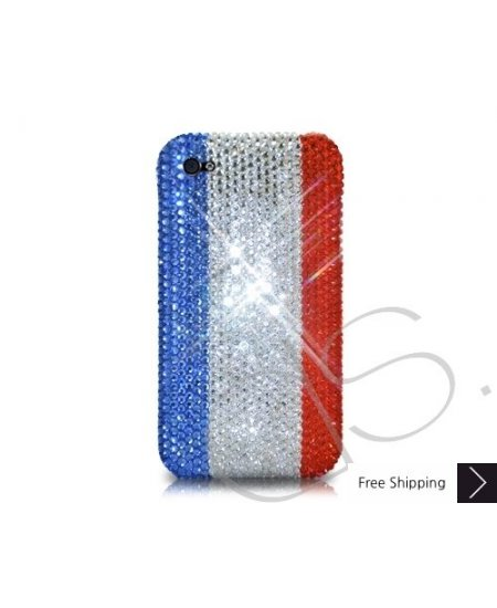 National Series Bling Swarovski Crystal Phone Case - France