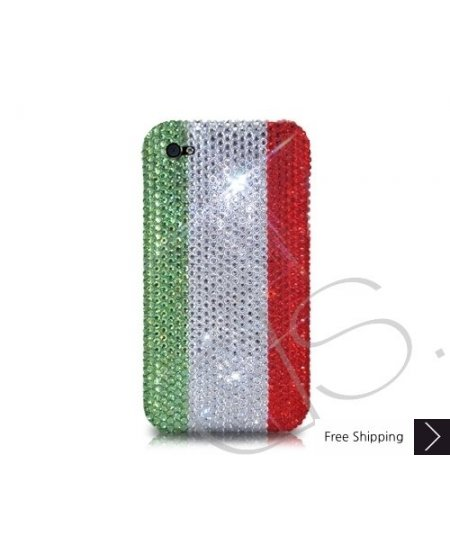 National Series Bling Swarovski Crystal Phone Case - Italy