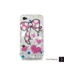 Ribbon Bling Swarovski Crystal Phone Case - Red