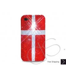 National Series Bling Swarovski Crystal iPhone 8 and iPhone 8 Plus Case - Denmark