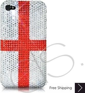 ナショナル シリーズ キラキラのスワロフ スキー クリスタル電話ケース - イングランド