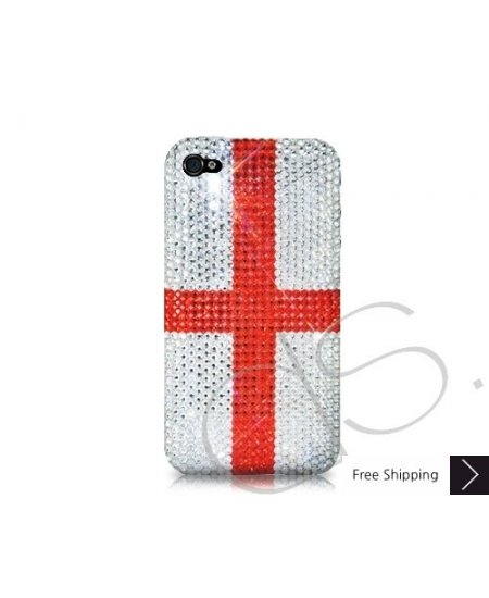 National Series Bling Swarovski Crystal Phone Case - England