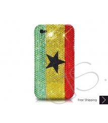 National Series Bling Swarovski Crystal iPhone 6 and iPhone 6 Plus Case - Ghana
