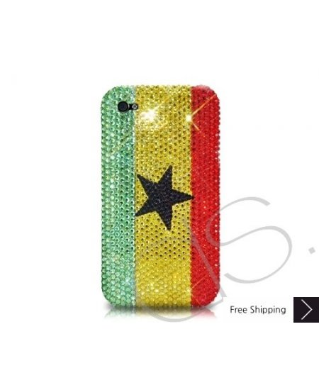 National Series Bling Swarovski Crystal Phone Case - Ghana