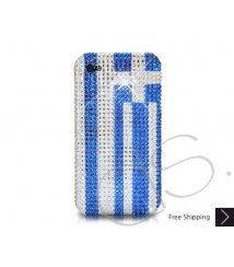 National Series Bling Swarovski Crystal Phone Case - Greece