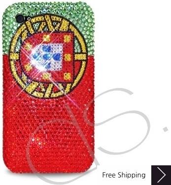 ナショナル シリーズ キラキラのスワロフ スキー クリスタル電話ケース - ポルトガル