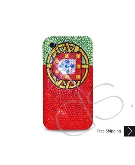 National Series Bling Swarovski Crystal Phone Case - Portugal