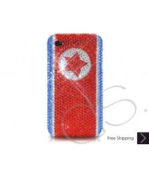 National Series Bling Swarovski Crystal Phone Case - Korea DPR