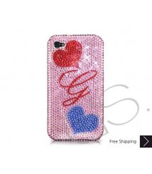 Fall in love Personalized Bling Swarovski Crystal iPhone 6 and iPhone 6 Plus Case - Pink