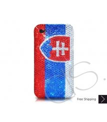 National Series Bling Swarovski Crystal iPhone 6 and iPhone 6 Plus Case - Slovakia