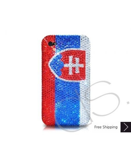 National Series Bling Swarovski Crystal Phone Case - Slovakia