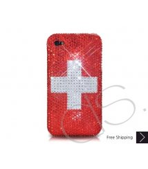 National Series Bling Swarovski Crystal Phone Case - Switzerland