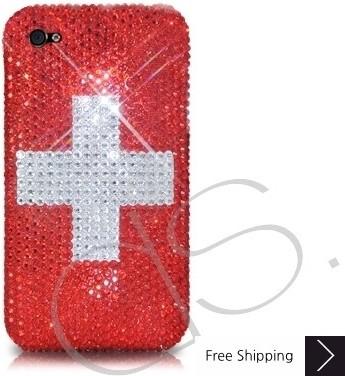 ナショナル シリーズ キラキラのスワロフ スキー クリスタル電話ケース - スイス