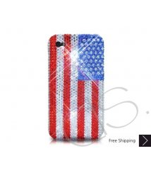 National Series Bling Swarovski Crystal Phone Case - USA