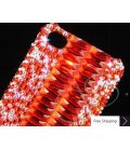 Ladder Bling Swarovski Crystal Phone Cases - Red