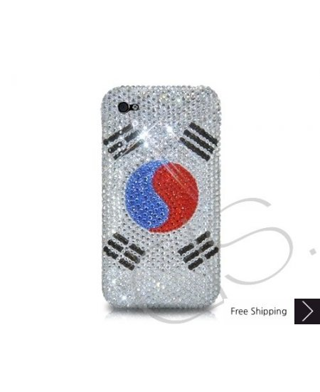 National Series Bling Swarovski Crystal Phone Case - Korea Republic