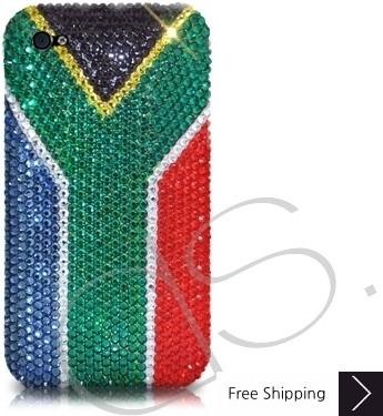 ナショナル シリーズ キラキラのスワロフ スキー クリスタル電話ケース - 南アフリカ