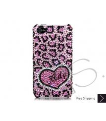 Love Leopard Personalized Bling Swarovski Crystal iPhone 6 and iPhone 6 Plus Case