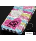 Fall in love Personalized Bling Swarovski Crystal Phone Cases - Stripe