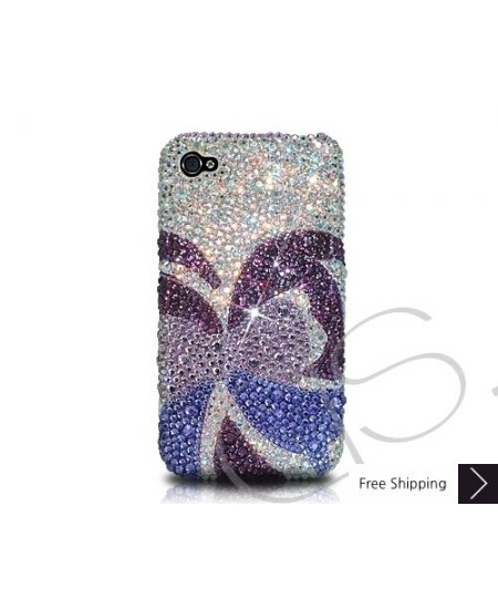Butterfly Bling Swarovski Crystal Phone Case - Purple