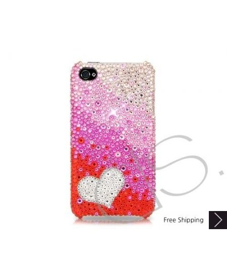 Gradation Heart Bling Swarovski Crystal Phone Cases