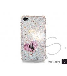 Fall in love Personalized Bling Swarovski Crystal Phone Cases - Silver