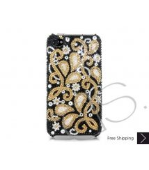 Gold Floral Bling Swarovski Crystal Phone Cases