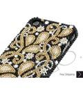 Gold Floral Bling Swarovski Crystal Phone Cases