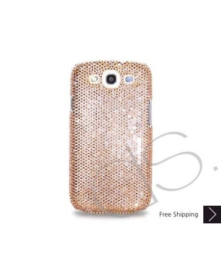 Classic Bling Swarovski Crystal Samsung Galaxy S3 i9300 Cases - Gold