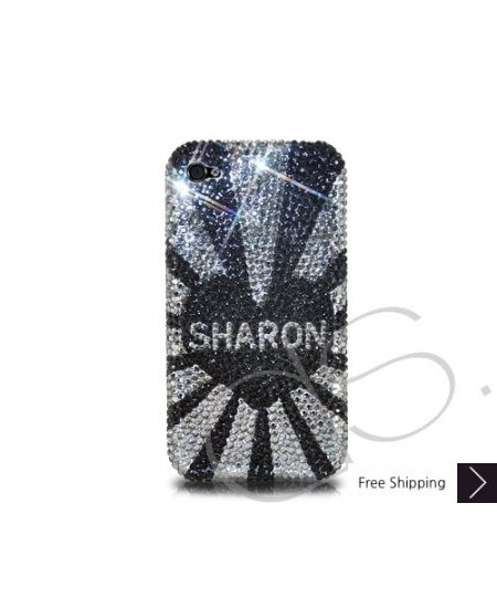 Initials Series Personalized Bling Swarovski Crystal Phone Case - Sharon
