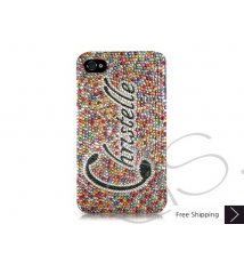 Rainbow Personalized Bling Swarovski Crystal Phone Cases