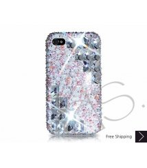 Symmetric Swarovski Crystal Phone Case - Platinum